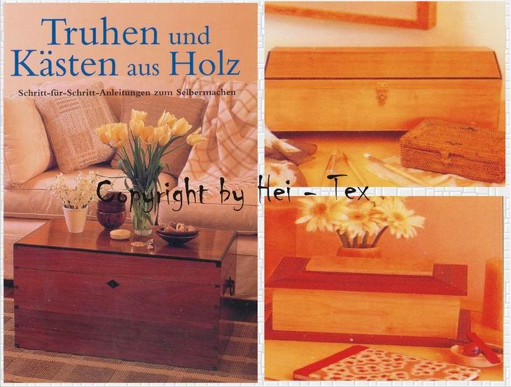 truhen k sten aus holz schritt f r schritt anleitung schreinern baupl ne diy ebay. Black Bedroom Furniture Sets. Home Design Ideas